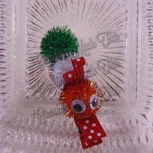 Christmas Caterpillar Ribbon Sculpture Hairclip