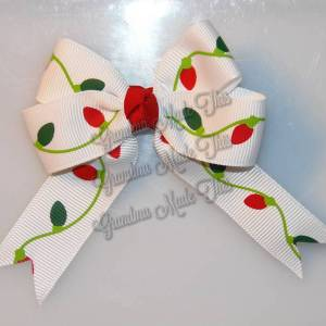 Christmas Quad Long Tails Hair Bows