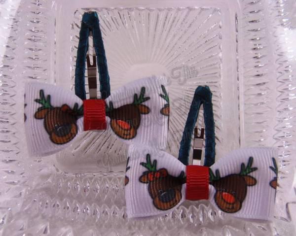 Rudolph Reindeer Snap Clippies 40mm