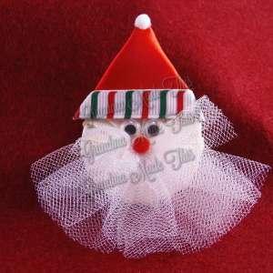 Christmas Santa Ribbon Sculpture Hairclip