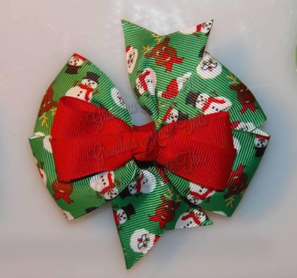 Santa n Friends Stacked Quad Pinwheel