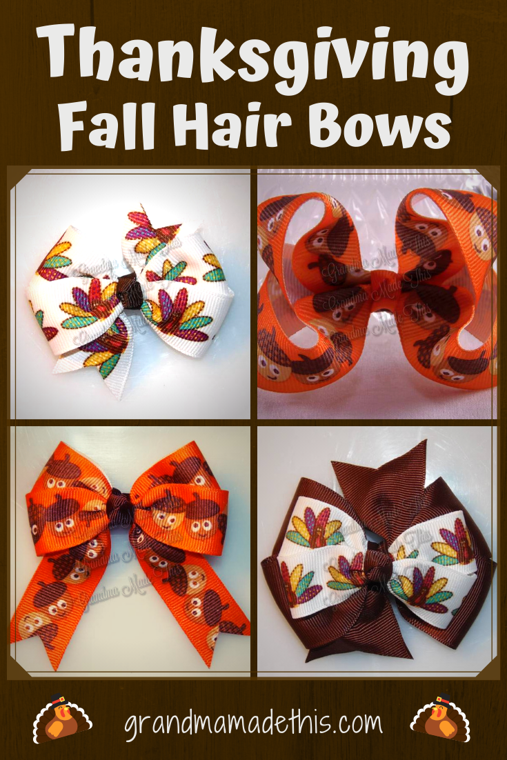 Thanksgiving Fall Hairbows pin