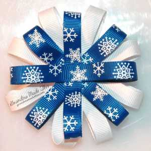 Winter Loopy Flower Bows