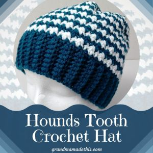 Hounds Tooth Stitch Crochet Hat