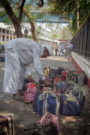 Dabbawala with tiffins