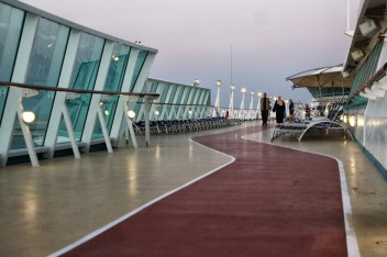 walking round the deck