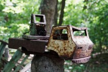 rusty toy truck Chernobyl