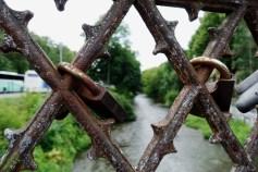 Locks on the bridge at Uzipis
