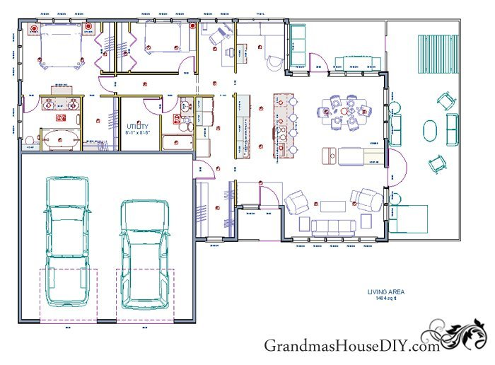 Free House Plan: An Easy Going One Story Ranch!