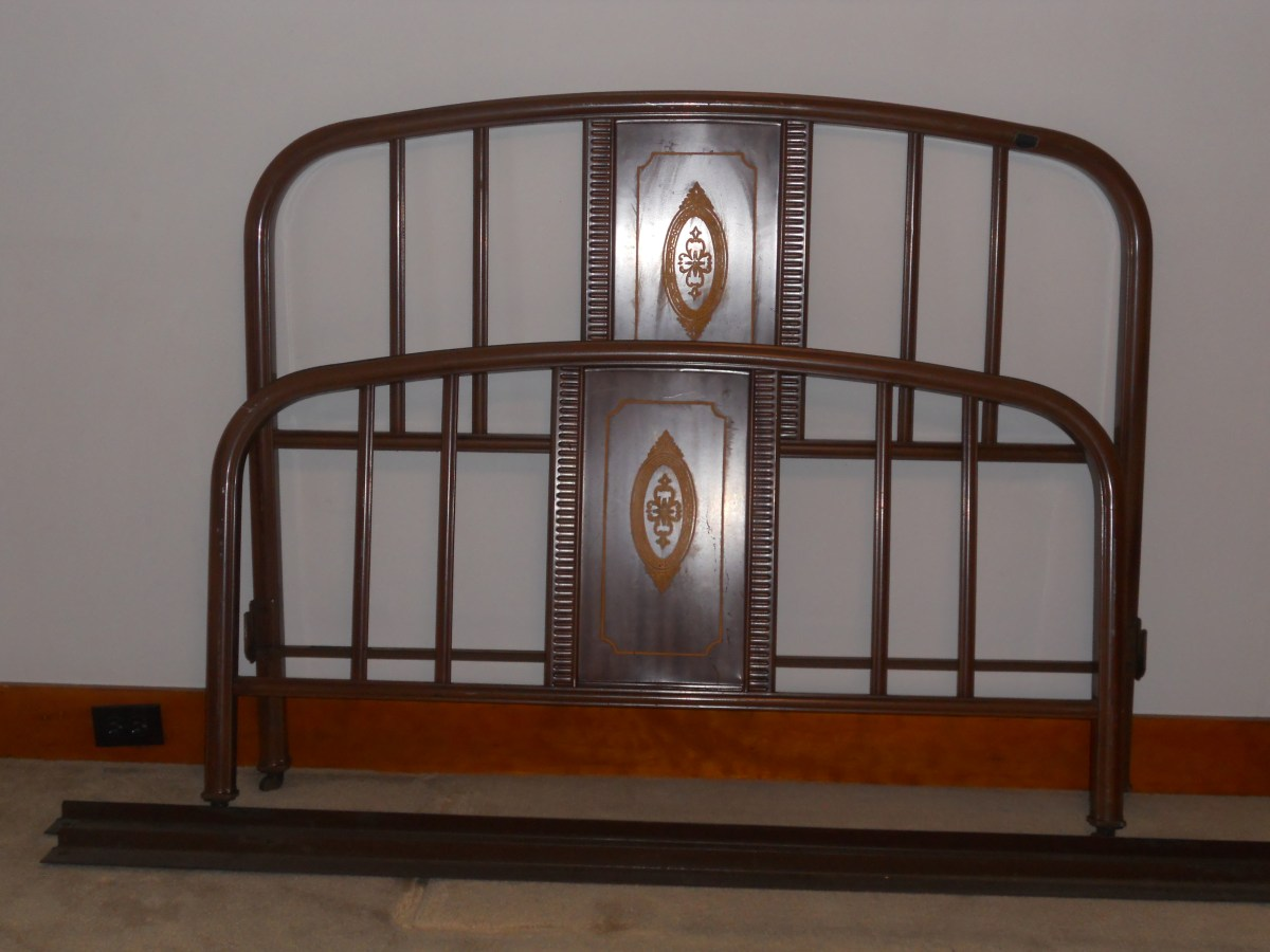 Antique Metal Bed Frame Grandmas Estate Sale