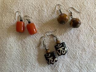 Earrings, $25.00 each pair