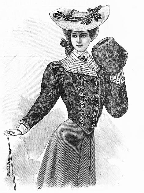 Кофточка, муфта и шляпа
