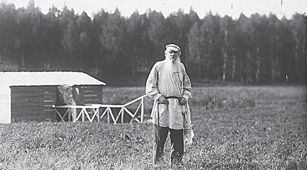 Л.Н. Толстой в поле / russian7.ru