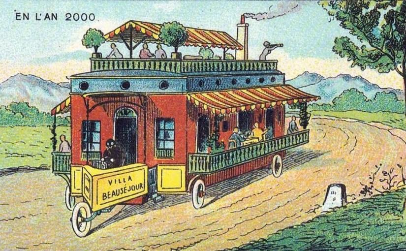 Дом на колесах. Иллюстрация 1900 года