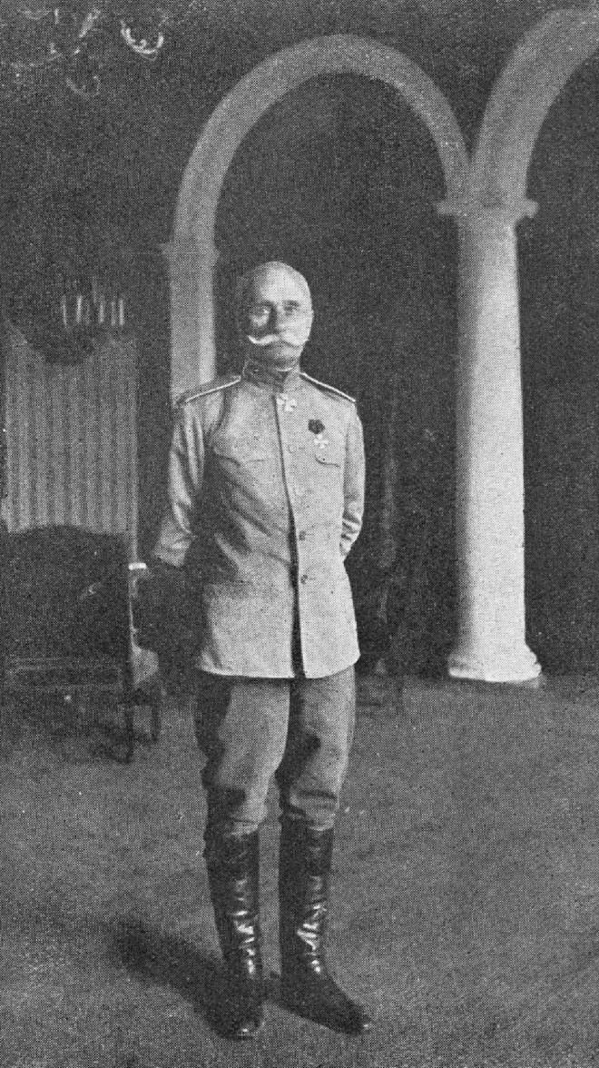 П.А. Алексеевич Лечицкий, назначенный главнокомандующий армией западного фронта вместо генерала Эверта