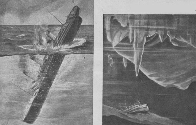 Последний момент (слева). На дне океана (справа)