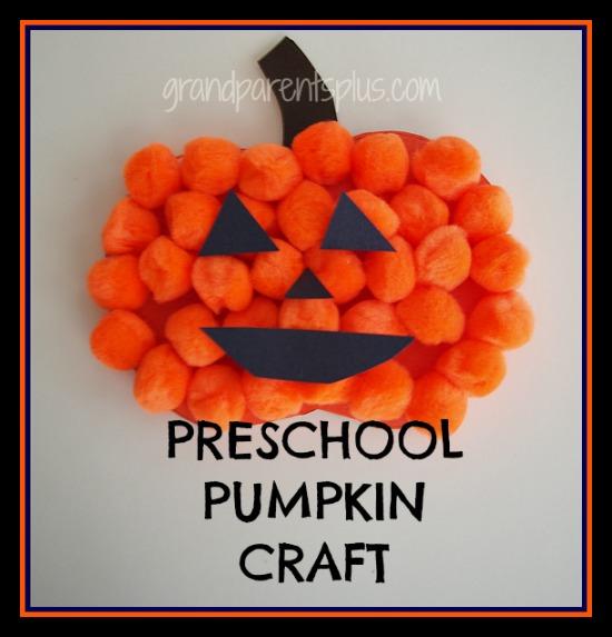 Preschool Pumpkin Craft grandparentsplus.com