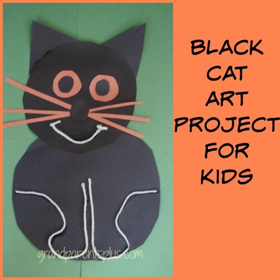 Black Cat Art Project for Kids grandparentsplus.com