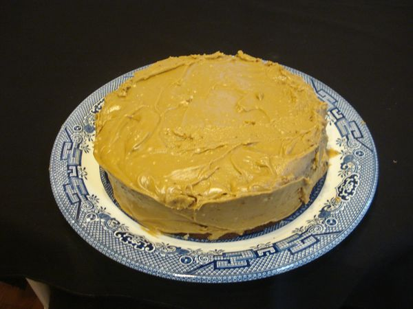 Yellow Cake Amp Mom S Caramel Icing Grandpa S Home Cooking