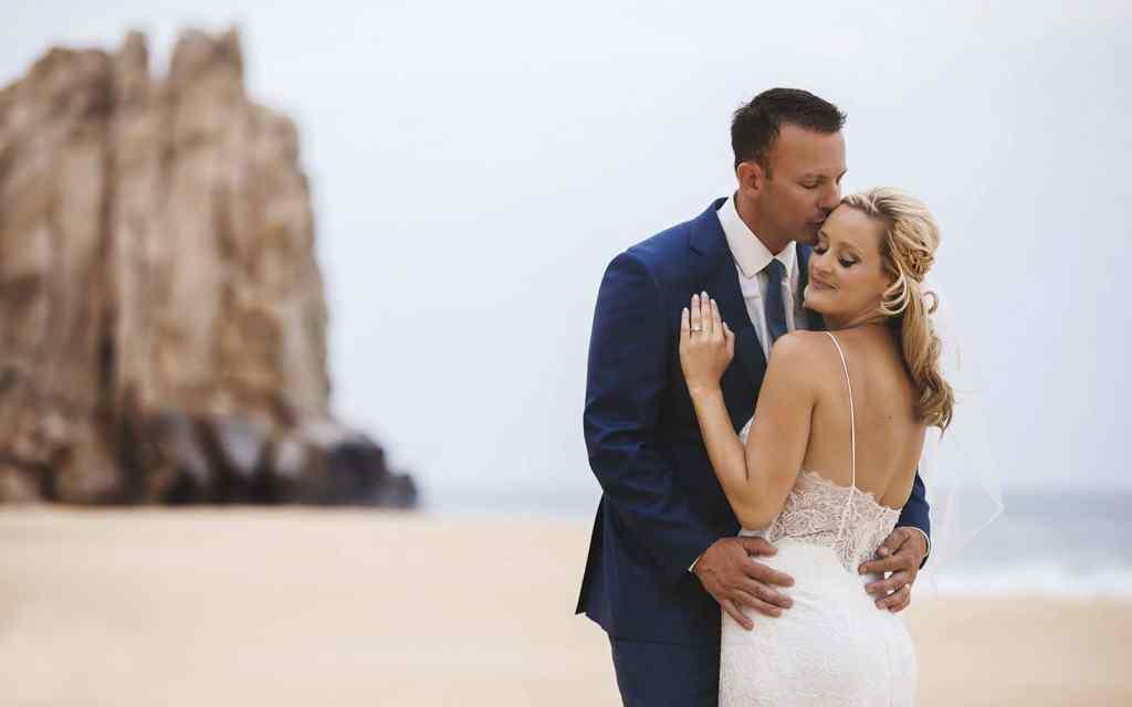 wedding couple on a beach