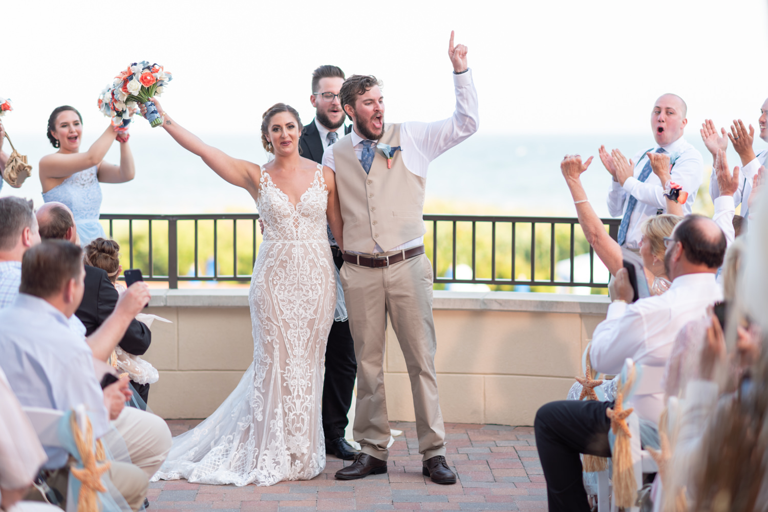 Cheers after ceremony - Grande Dunes Ocean Club - Myrtle Beach
