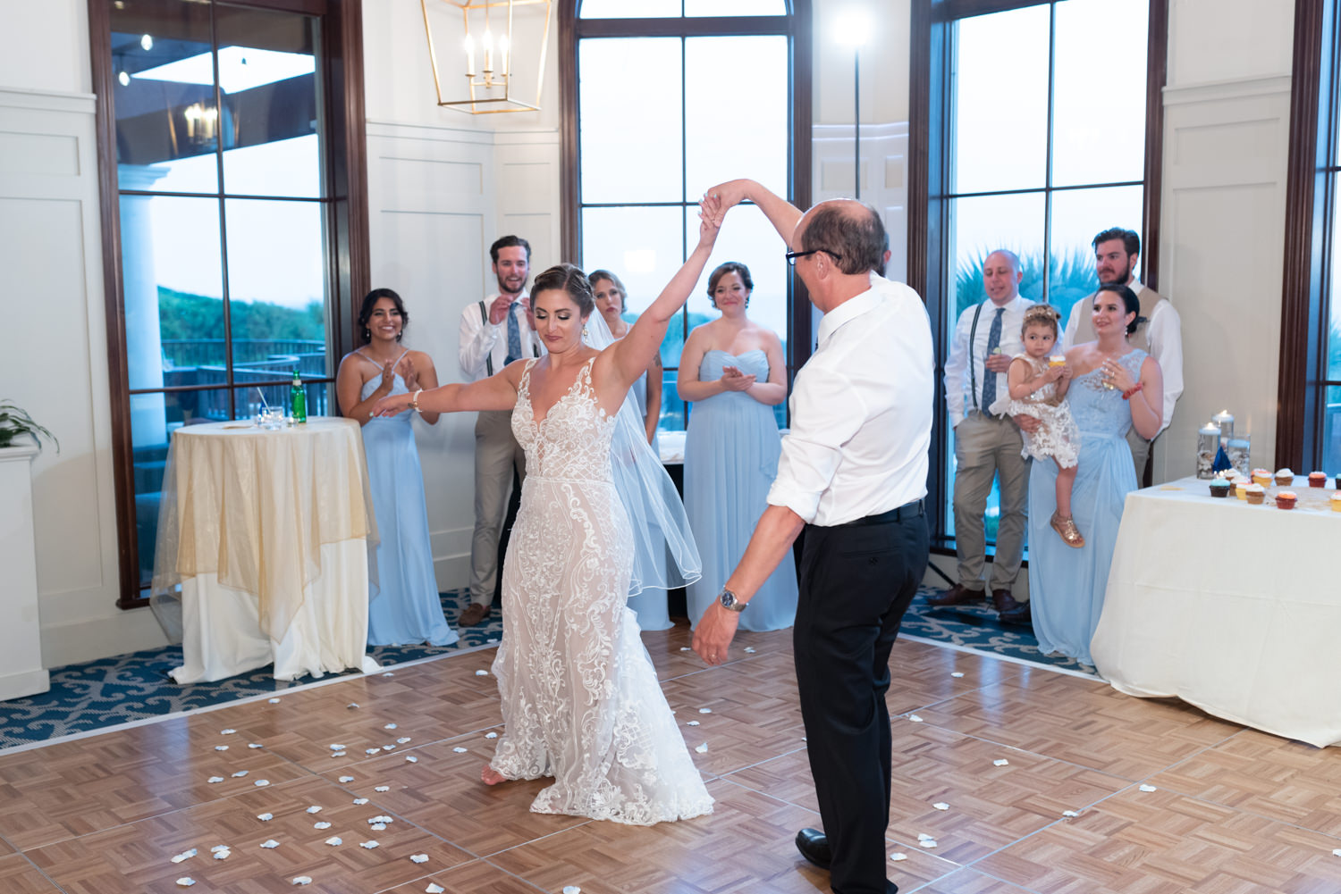 Choreographed first dance with bride and father - Grande Dunes Ocean Club - Myrtle Beach
