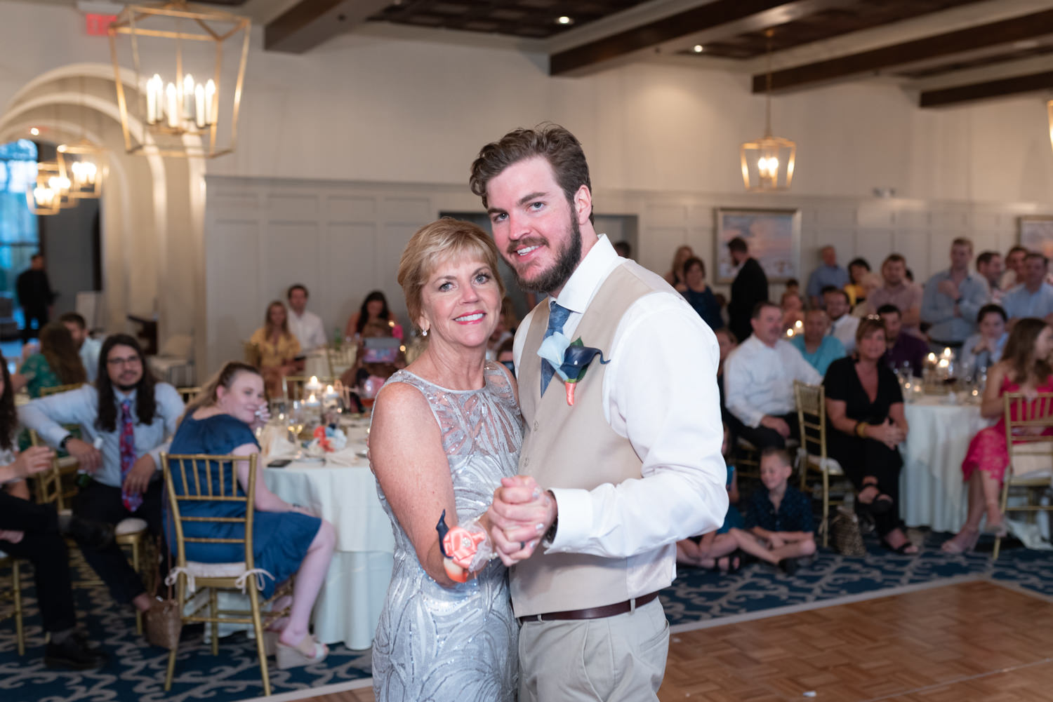 Groom dancing with mother - Grande Dunes Ocean Club - Myrtle Beach