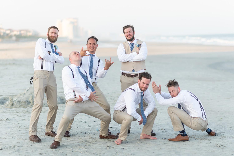 Groomsmen posing - Grande Dunes Ocean Club - Myrtle Beach