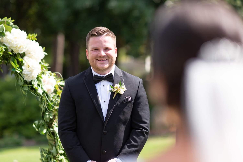 Huge smile on groom - Pawleys Plantation