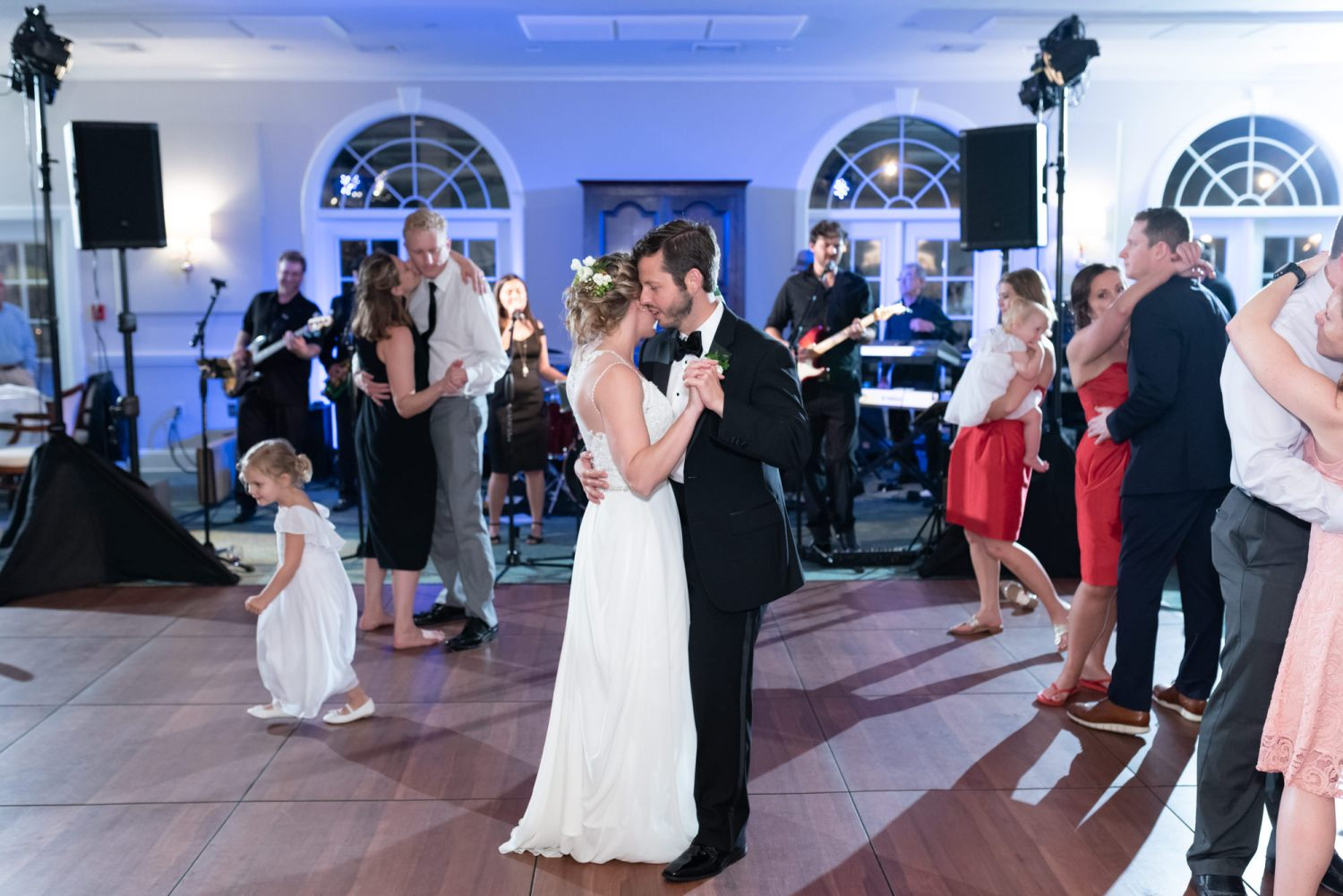 Bride and groom dancing - Wachesaw Plantation