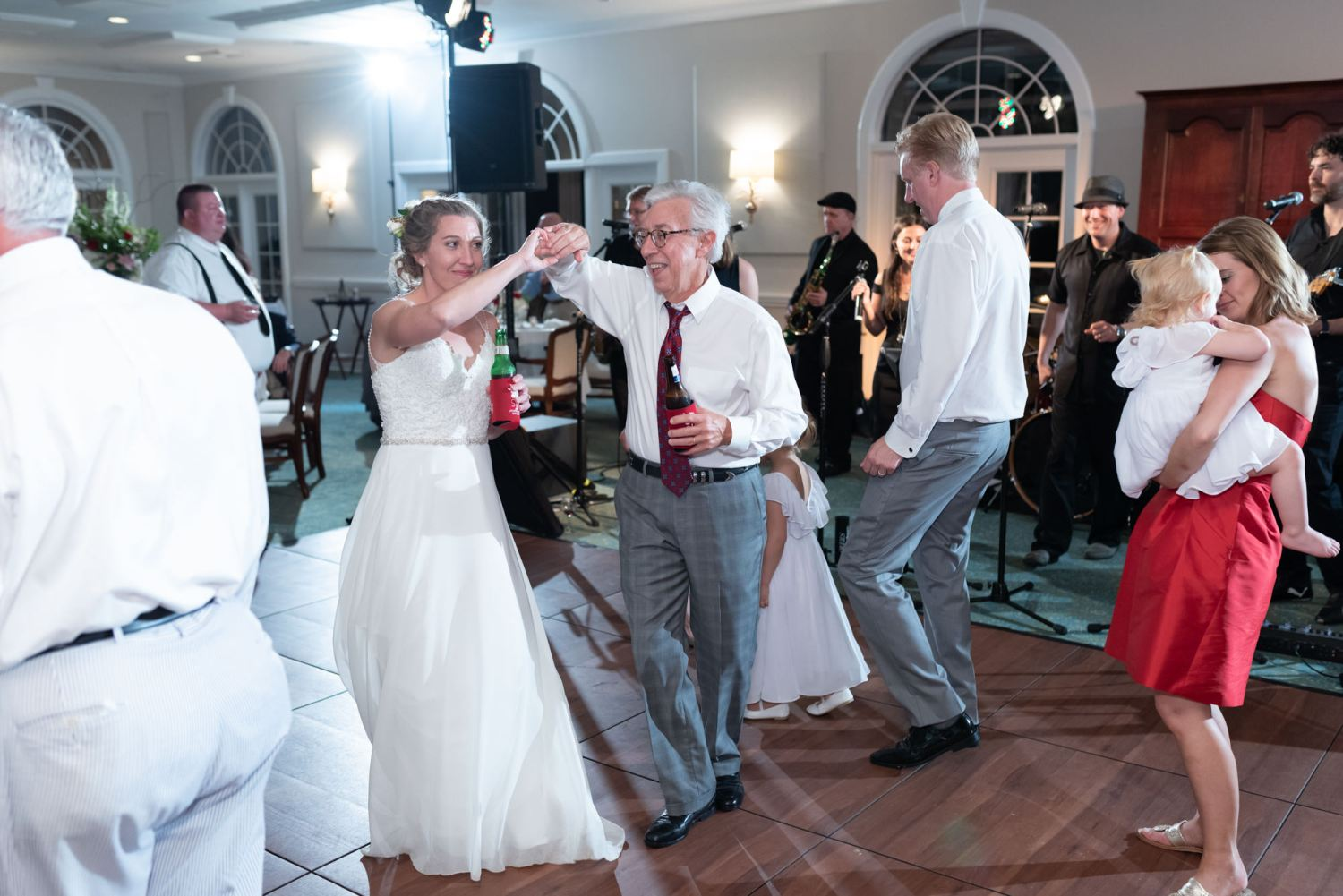 Bride dancing with father - Wachesaw Plantation