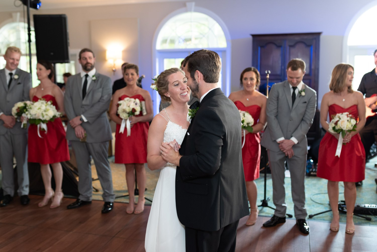 First dance with bride and groom - Wachesaw Plantation