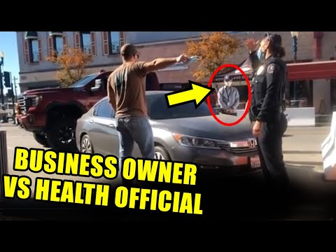 Desperate Business Owner Blocks Health Inspector's Car & Takes on Cops
