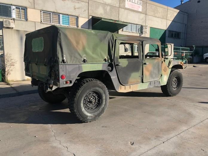 Humer H1 Verde - Alquiler de vehículos militares, alquiler de camiones de bomberos.