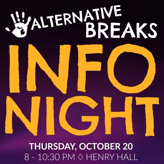 Info Nights are great opportunities to learn more about our winter, spring and summer break trips!