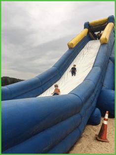Kids Coming Down Slide