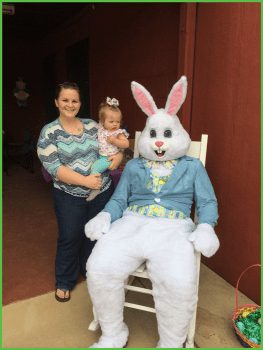 Pretty Baby Checking Out the Easter Bunny