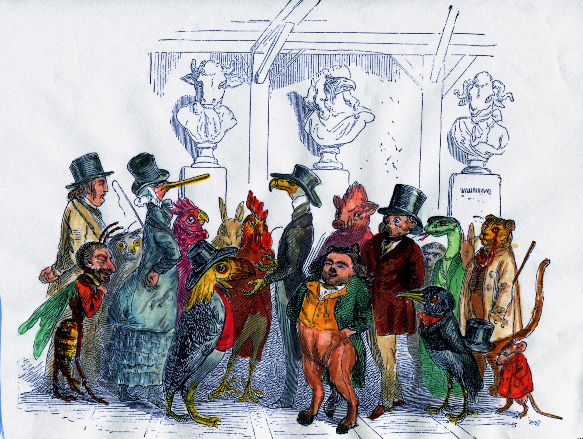Grandville Sheeple: The American Animaux Presidential Election