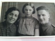 Wife Alice, daughter Doreen and George