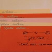 Open When Briefe -Eine kostengünstige Geschenkidee