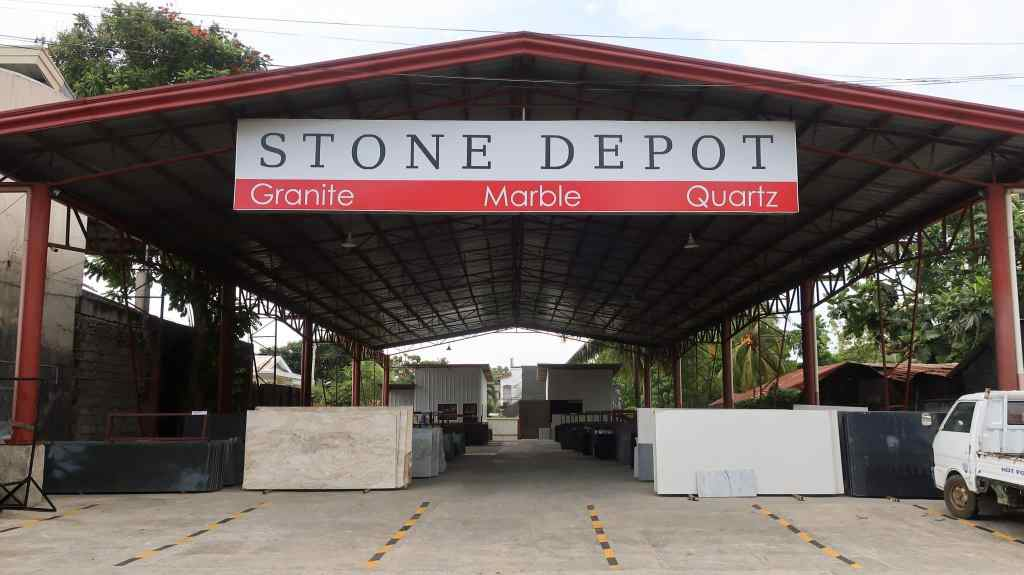 The slab yard of Stone Depot in Davao City