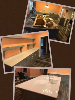 before and after kitchen islands