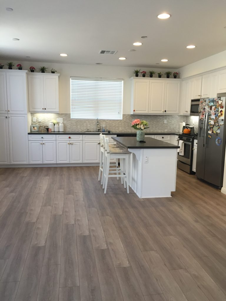 Kitchen Grey Quartz Countertops Mosaic Backsplash And