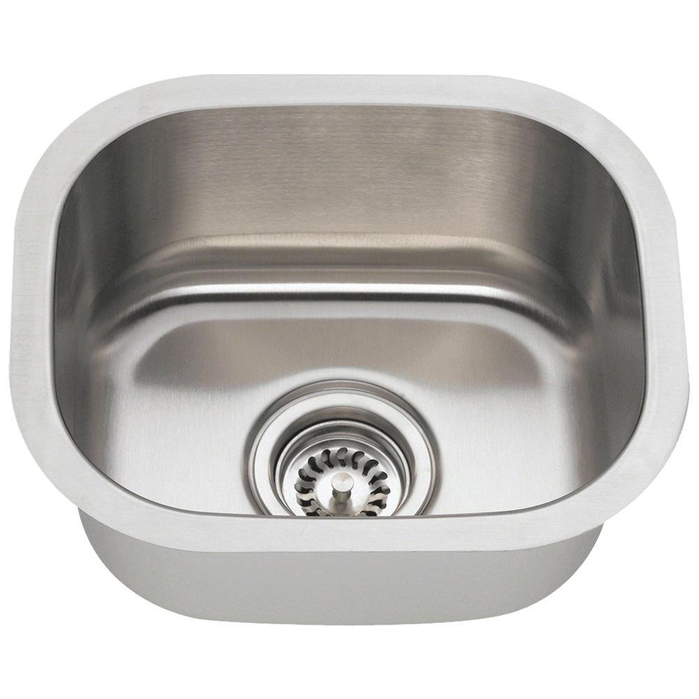 small bar sink center drain