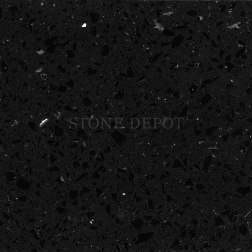 Image, Picture, Photo, Quartz, Engineered Stone, Engineered Quartz, Synthetic Stone, Polished, Countertop, Counter Top, Floor, Flooring, Wall Cladding, Black