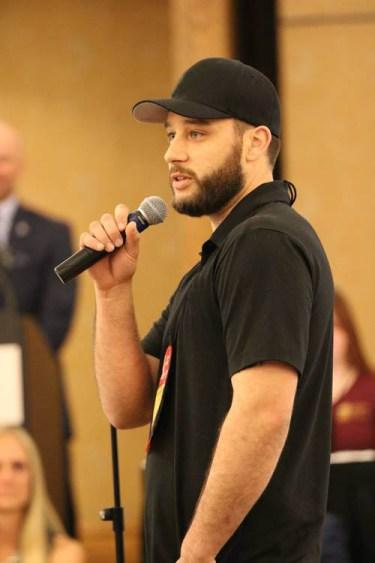 Kris Kessler speaking at NCSG Convention about chimney service