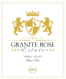 Granite Rose Estate Pinot Noir label 2016