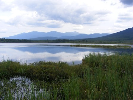View of the Presidential Range from Cherry Pond in the Pondicherry Wildlife Refuge.
