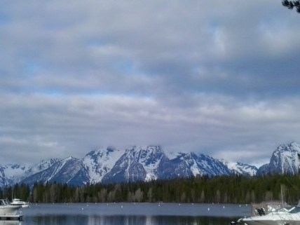 In Grand Teton National Park: the view across Cotter Bay.