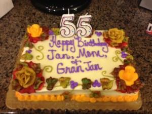 55 cake